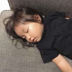 ねんね/寝顔/娘/1歳6ヶ月 私が夜寝る前の家事をしている途中で寝ちゃ…