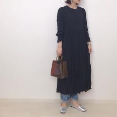 クリアバッグ/レイヤードコーデ/zoooy/ワンピースコーデ/PR/ファッション Zoooy.TOKYOのワッシャープリー…(1枚目)