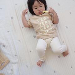 歯磨き/1歳3ヶ月/娘 歯磨き中の末っ子ちゃん。 最近はゴロゴロ…