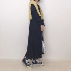 ワンピースコーデ/カーディガン肩掛け/zoooy/ワンピース/PR/ファッション 私がセレクターとして参加するブランドzo…
