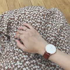 ダニエルウェリントン/リング/腕時計/ファッション/わたしのお気に入り ダニエルウェリントンの腕時計とリングを付…