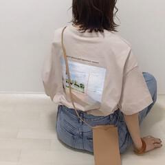 カジュアルコーデ/プチプラ/バックプリント/バクプリ/Tシャツ/GU/... GUのグラフィックT(5分袖)ART バ…