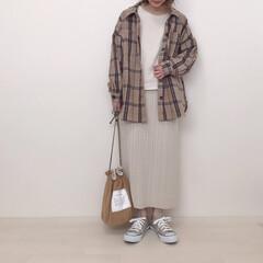 プチプラコーデ/チェックシャツ/しまむら/ファッション しまむらの1500円チェックシャツ 厚手…
