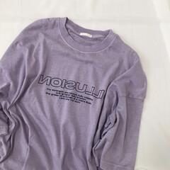 メンズTシャツ/オーバーサイズT/パープル/プチプラ/ファッション/ジーユー/... GUメンズのTシャツ* 綺麗なパープルに…
