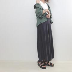 大人カジュアル/GU/スカーチョ/ニコアンド/リネンシャツ/ファッション ヘビロテ中のニコアンドのリネンシャツ。 …