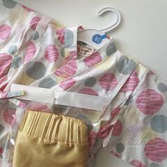 プチプラ/子供服/キッズコーデ/浴衣/ファッション/令和元年フォト投稿キャンペーン 末っ子ちゃんの浴衣を買いました◡̈ 上下…