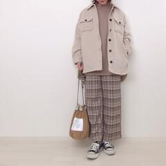 チェックパンツ/アウター/cpoジャケット/ハニーズ/ファッション 上下ハニーズでぬくぬくコーデ◡̈ cpo…