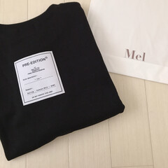PR/mel/カジュアル/オーバーサイズ/Tシャツ/バクプリ/... バックタグが可愛いTシャツ届いた♡ オー…