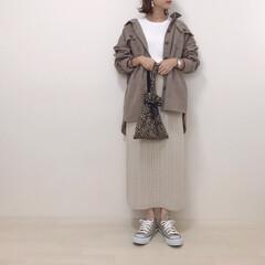 GU/ニットスカート/コーデュロイシャツ/しまむら/ファッション お気に入りのしまむらのコーデュロイシャツ…