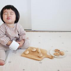 1歳2ヶ月/ミニチュアパン/おままごとグッズ/おままごと/雑貨/わたしのお気に入り お気に入りのミニチュアパンで遊ぶ末っ子ち…