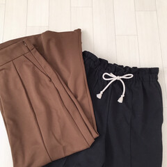 GU購入品/値下げ品/GU新作/GU/ファッション GU購入品* ブラックのパンツはスウェッ…