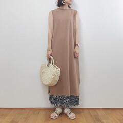 大人カジュアル/ワンピース/ハニーズ/GU/ファッション/雨季ウキフォト投稿キャンペーン ワンピースにロングボトムのバランスが好き…