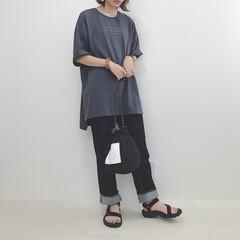 プチプラコーデ/カジュアルコーデ/神デニム/GU/ハニーズ/ファッション ハニーズのチュニックにGUのデニム。 い…