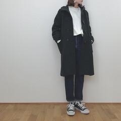 GU/アウターコーデ/ダッフルコート/冬コーデ/冬/ファッション 今季買い足した GUのロングダッフルコー…