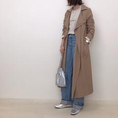 デニムコーデ/スプリングコート/テロンチ/大人カジュアル/春コーデ/ファッション やっぱり大人カジュアルが好き♡ テロンチ…