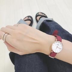 手元コーデ/ダニエルウェリントン/腕時計/ファッション おにゅーの腕時計⌚️ ダニエルウェリント…