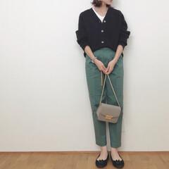 大人カジュアル/GU/ユニクロ/秋/ファッション いつかのコーデ。 お気に入りのグリーンの…