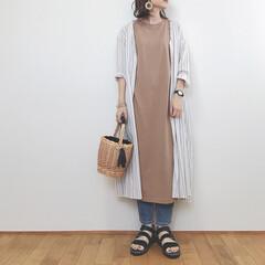 ワンピース/大人カジュアル/ジーユー/GU/ファッション/みんなにおすすめ 大好きを詰め込んだコーデ♡ ストライプの…