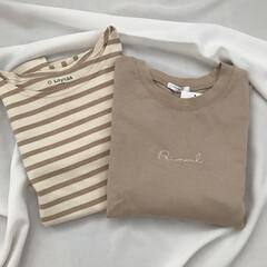 置き画/カジュアル/ボーダー/ベージュ/購入品/ファッション 最近の購入品❁︎ 左のボーダーはSama…