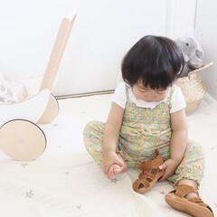 1歳3ヶ月/娘/韓国子供服/西松屋/サンダル/ファッション/... 末っ子ちゃん、このサンダルが大好きで(歩…(1枚目)