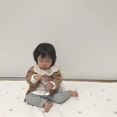 ベビー服/1歳3ヶ月/娘コーデ/娘/ファッション 娘コーデ。 お気に入りのカーディガンをメ…