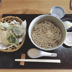 ランチ/外食/蕎麦/わたしのごはん/グルメ/フード 今日のお昼ごはん。 美味しいお蕎麦屋さん…