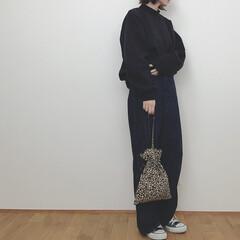 カジュアルコーデ/オーバーサイズ/GU/スウェット/ファッション いつかのコーデ。 GUメンズのモックネッ…(1枚目)