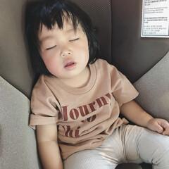 1歳4ヶ月/娘/爆睡/寝顔/令和元年フォト投稿キャンペーン 運動会の間、お昼寝もせずにずーっと歩き回…