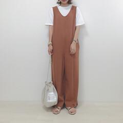 巾着バッグ/オールインワン/サロペット/大人カジュアル/ファッション 大人カジュアルなお洋服がたくさんのqua…