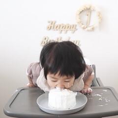 1歳/スマッシュケーキ/ケーキ/誕生日ケーキ/1歳バースデー/手作り/... スマッシュケーキ🎂 1歳の誕生日にやりた…