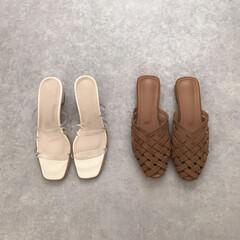 フラットサンダル/メッシュサンダル/クリアサンダル/サンダル/ZOZOTOWN/ファッション zozo購入品* ネットで靴を買うのはド…