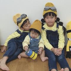 3きょうだい/ミニオンズ/仮装/ハロウィン HAPPY HALLOWEEN👻 ミニオ…