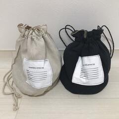 巾着バッグ/ファッション雑貨/ファッション/雑貨だいすき お気に入りの巾着バッグ♡ どちらもリバー…