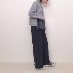 大人カジュアル/スウェットパンツ/GU新作/GU/ファッション GU新作のスウェットイージーワイドパンツ…