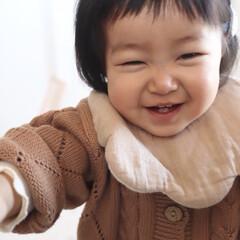 ニコニコ/笑顔/赤ちゃんのいる生活/赤ちゃん/1歳2ヶ月/娘 ニコニコ♡ カメラを向けるとこのニコニコ…