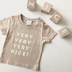 子供服/ロゴT/Tシャツ/ファッション お気に入りのTシャツ♡ これはキッズサイ…