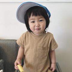 食事中/帽子/1歳3ヶ月/娘 お姉ちゃんの体育の授業で被る帽子を「ぼー…