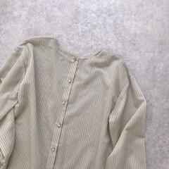 ストライプ/ミントグリーン/シアー/シアーシャツ/ファッション ミントグリーンのシアーシャツ* ストライ…