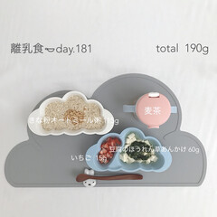 離乳食後期/生後11ヶ月/離乳食/おうちごはん/グルメ/フード/... 今日の離乳食。 オートミール粥の進みが悪…