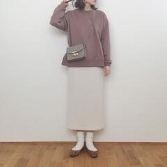 大人カジュアル/バレエシューズ/レオパード/スウェットコーデ/タイトスカート/GU/... お気に入りのスカートコーデ。 このGUの…