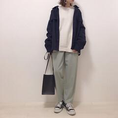上下GU/ミントグリーン/ジャケットコーデ/メンズアイテム/GU/ファッション 小物以外ぜんぶGUコーデ* ジャケットは…