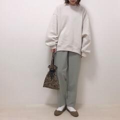 春カラー/ミントグリーン/エクリュ/上下GU/GU/ファッション 上下GUコーデ* スウェットはお気に入り…