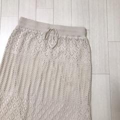 春服/透かし編みニットスカート/透かし編みスカート/GU/ファッション GU購入品* 去年すぐ完売して買えなかっ…