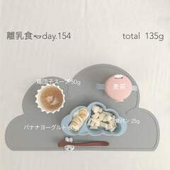 赤ちゃん/生後11ヶ月/離乳食後期/離乳食/おうちごはん/グルメ/... 12月25日の離乳食。 娘の好きなメニュ…