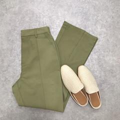 ファッション/プチプラ/kobelettuce/神戸レタス/フレアパンツ/カラーパンツ/... ピスタチオカラーが可愛いパンツは神戸レタ…
