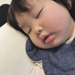 ベビー/ねんね/生後10ヶ月/赤ちゃん/寝顔 寝顔♡ 癒し♡ 最高の癒し♡♡ この寝顔…