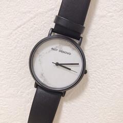 モノトーン/大理石柄/腕時計/ファッション おにゅーの腕時計⌚️ ALLY DEVO…