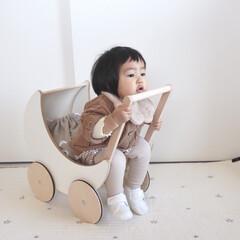 赤ちゃんのいる生活/娘/oohnoo/1歳2ヶ月/手押し車/インテリア/... すっごくすっごくお気に入りの月の手押し車…