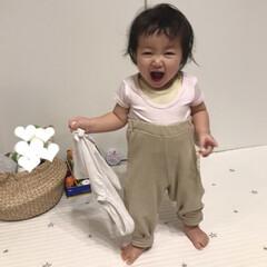 1歳1ヶ月/パジャマ/お風呂上がり/赤ちゃん/ハイウエスト お風呂上がりの末っ子ちゃん。 パジャマは…
