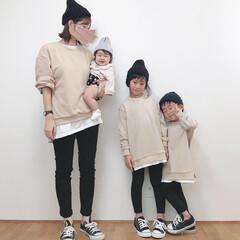 リンクコーデ/親子リンクコーデ/お揃い/スウェット/ファッション またまたスウェットで親子リンクコーデ。 …